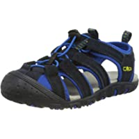 CMP Unisex_Child Kids Sahiph Leather Hiking Sandal, Anthracite, 32 EU