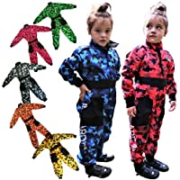 Leopard CUB Kids Motocross CAMO Suit Children Motorbike Motorcycle Race Clothing ATV Karting Suit Overall 1PC - Green XS (3-4 Years)