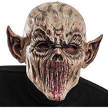 Carnival Toys - Máscara de látex zombi de terror con orejas puntiagudas con encabezado, multicolor (1403)
