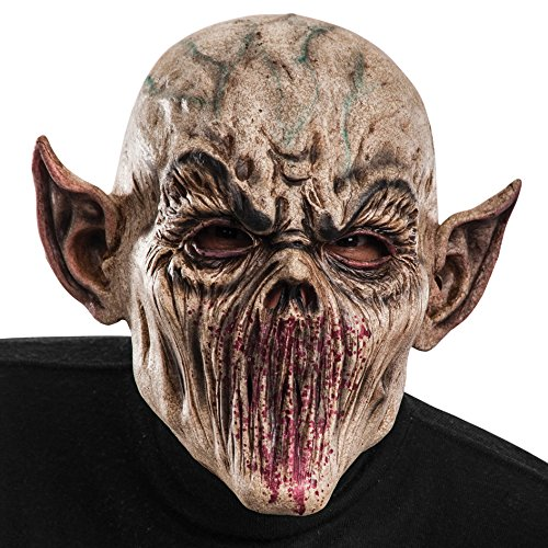 Carnival Toys - Máscara de látex zombi de terror con orejas puntiagu