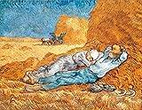 Impresión sobre lienzo de Van gogh, La Siesta (1889), 50x 70cm sin marco