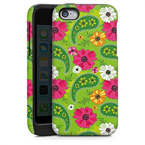 Apple iPhone 5s Housse Étui Protection Coque Fleurs Fleurs Motif Cas Tough brillant