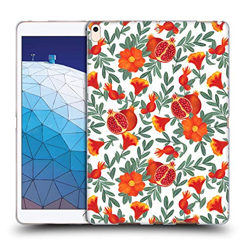 Gel Granatapfel (Head Case Designs Offizielle Julia Badeeva Granatapfel Modelli Tropicali 2 Soft Gel Huelle kompatibel mit iPad Air (2019))