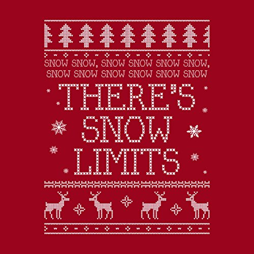 Snow Snow Theres Snow Limits Christmas Knit Women's Hooded Sweatshirt Cherry Red