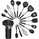 Vicloon Keukengerei Set, 15 stuks siliconen kookgerei set, bakspatel set inclusief borstel, spatel, antiaanbaklaag en hittebe