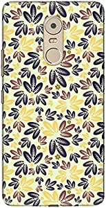 The Racoon Lean printed designer hard back mobile phone case cover for Lenovo K6 Note. (Pale Leafy)
