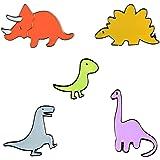 Jalan Spille di Dinosauro, 5 Pezzi Spilla di Bavero distintivi per Abbigliamento, Borse, Zaini, Giacche, Decorazioni per Capp