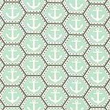 Fabulous Fabrics Baumwolljersey Anker Hexagon – mintgrün