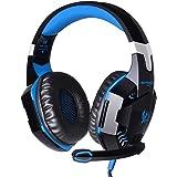 Andoer EACH G2000 Über-Ohr-Spiel-Spiel-Kopfhörer-Kopfhörer-Stirnband mit Mic Stereo Bass LED-Licht für PC-Spiel