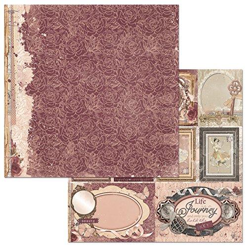Bo Bunny Papier-Blütenblätter, gemustert, 25Stück