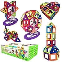 Costruzioni Magnetiche per Bambini – 94 Blocchi MagneticiIntelligent Magnetic Building Blocks è il regalo perfetto per ragazzi e ragazze dai 3 anni in su!Questo set di giochi magnetici farà divertire i bambini per ore!Il nostro set di blocchi magnet...