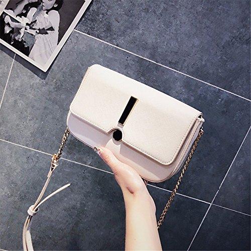 BMKWSG Damen-Handtaschen, modische Handtaschen, einfach, PU-Leder Modern Rice White