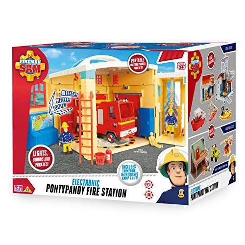 Fireman Sam 05958 Sam Electronic Pontypandy Fire Station Toy