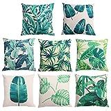 Coffs 1 Pcs 45cm X 45cm Creative Plant Pattern Coussin Housse Coussin en coton confortable pour canapé oreillers décoratifs (style aléatoire)