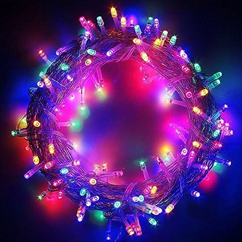 10M100LED Guirlande Lumineuses, T-Antrix 33ft/10Mètres 100 LEDs Guirlande lumineuse, Etanche Éclairage Décoratif Lampadaire Pour Arbre de Noël Nouvel An Noël Jardin Mariage Terrasse Pelouse Avec Prise