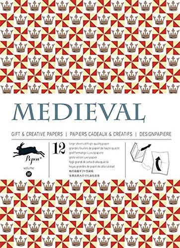 Medieval  - Volumen 37. 12 grandes feuilles de papiers cadeaux & créatifs de haute qualité.