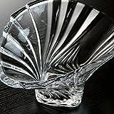 Cristal en Forma de abanico plato de frutas plato de frutas plato de cristal cubo de frutas secas frutas plato de frutas plato creativo moda