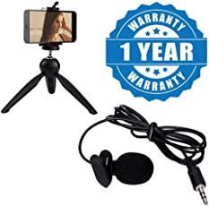 Drumstone Microphone Mini Hands-free Clip On Lapel Mic, Plastic and Metal (Lapel.Microphone+228.Stand, Multicolour)