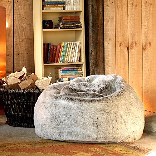 ICON XL Panelled Faux Fur Bean Bag Chair ...