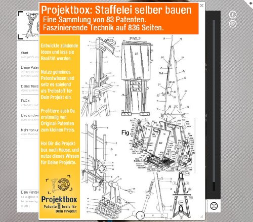Staffelei selber bauen: Deine Projektbox inkl. 83 Original-Patenten bringt Dich mit Spaß ans Ziel!