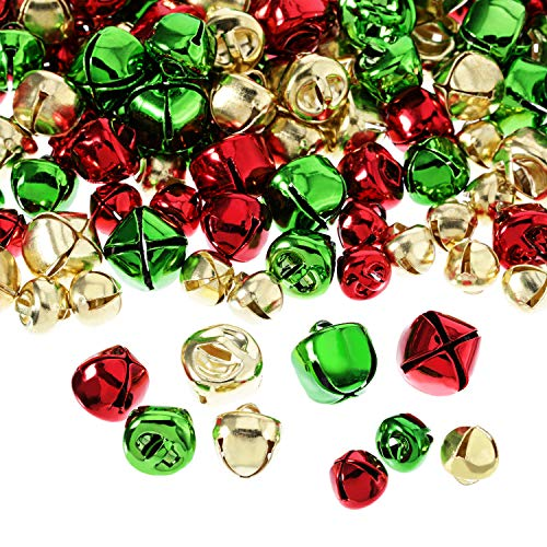 288 Piezas Cascabeles Navidad Campanas Pequeños Coloridads