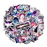 Aufkleber Galaxy [100 Stück] zufällig ausgewählt, Auto-Aufkleber, RM Store Galaxy Laptop-Sticker, Motorrad, Fahrrad, Gepäck, Aufkleber Graffiti Patches, Skateboard Aufkleber für Laptop - kein Duplikat