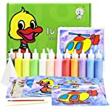 12Pcs/lot Kids DIY Sand Painting Toy Children Drawing Board Sets Bubble Sand Handmade Picture Paper Craft Sand Draw Art(Card