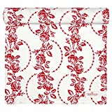 Greengate COTTAR140FLE1004 Fleur Tischläufer rot 45 x 140 cm