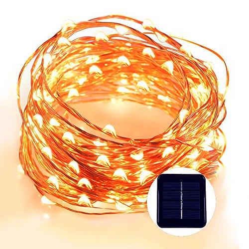 [100 LED 12 metri] luci della stringa, impermeabile leggiadramente Starry luci della stringa per fai (Bianca Leggiadramente Solare Luce)