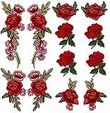 Toppa ricamata ricamo, pizzo fiore tessuto applique, toppe, DIY Craft decorativa collare per vestiti, jeans, borsetta (12PCS)
