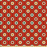 ABAKUHAUS Abstrakt Stoff als Meterware, 60s Style Hippie