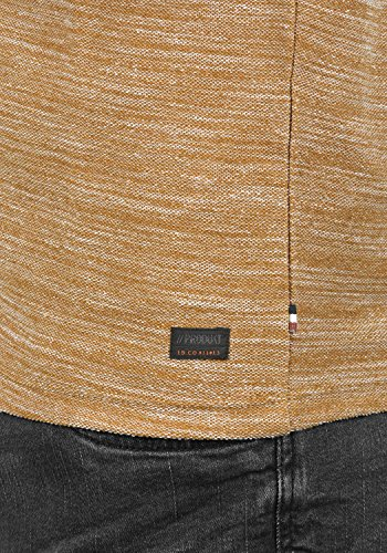 PRODUKT Pantaleon Herren Sweatshirt Pullover Sweater mit Rundhals-Ausschnitt aus hochwertiger 100% Baumwolle Meliert Golden Brown
