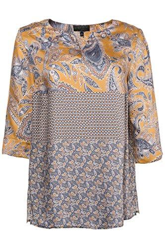 Ulla Popken Femme Grandes Tailles | T-Shirt Manche 3 4 Tunique Lâche Blouse Femme et Top Chic | 713686 Multicolore