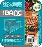 RUECAB Housse de protection pour Banc de 3 Places Gris 160 x 80 x 80 cm 2279