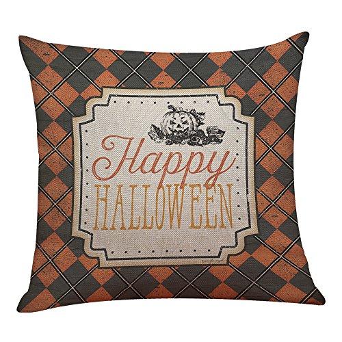 VICKY-HOHO Halloween Kissen Box Leinen Sofa lustige Ghost Pad Kissen Home - Gespenstische Geist Ghost Kostüm