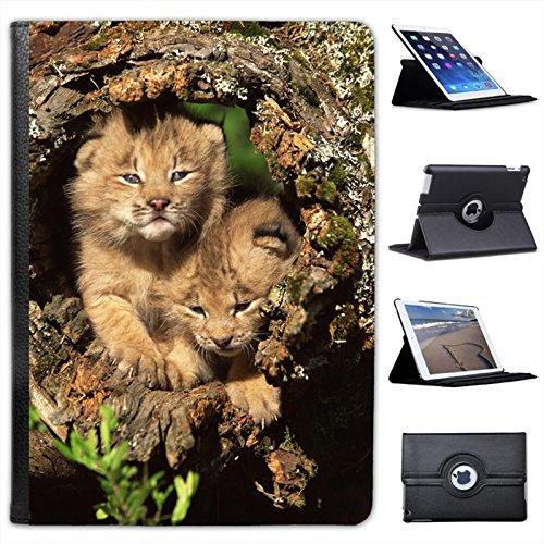 flauschige-katzchen-in-kanada-luchs-besitzt-einen-hohlen-log-kunstleder-folio-mit-standfunktion-fur-