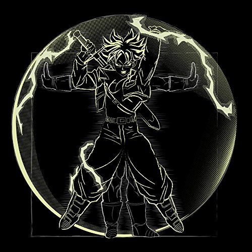 Vitruvian Saiyan Trunks Dragon Ball Z Women's T-Shirt Black