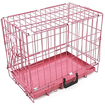 Easipet Pink Metal Dog Crate (XS) suitable for Toy Breeds