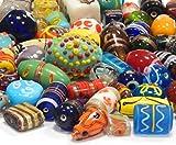 Glasperlen Mix Indian Posten Glas Perlen Beads Silberfolie Lampwork Rund Oval Neu Farbe Bunt Perlenset Bastelset Für Schmuck zur Schmuckherstellung von Halsketten Armband DIY Basteln Schmuck Design (250)