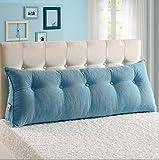 Cojines del sofá almohada de noche Doble cojines de la cama sofá amortiguador del respaldo lumbar almohada lumbar triángulo largo almohada almohada almohada lumbar hogar Oficina ( Tamaño : 100*25*50cm )