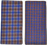 Indhirani Men's Cotton Lungi- Combo Of 2