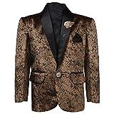 AJ Dezines Kids Party Wear Blazer for Boys (BLAZER_02_BROWN_12)
