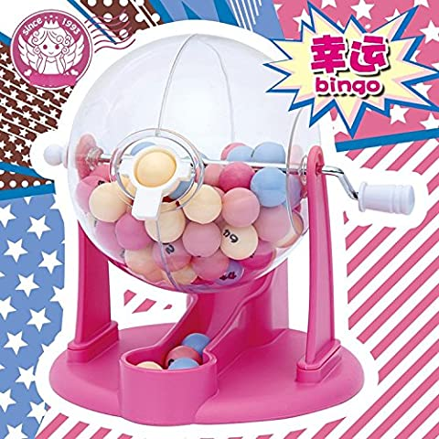 XJoel Lucky Number Picking Machine Mini-Lotterie Bingo-Spiele Shake Lucky Ball von kompletten Shop Décor Bingo Lotto-Spiel-Set