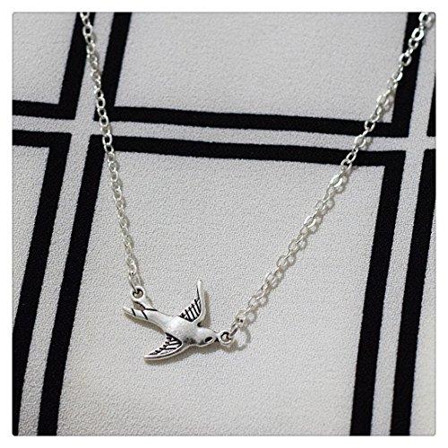 plateado-golondrina-pajaro-collar-plata-simple-everyday-jewelry