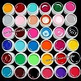 Juego de 36 colores de gel acrílico para decoración de uñas, color...