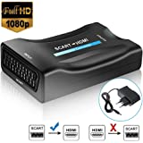 Scart zu HDMI Konverter, FAERSI Scart zu HDMI 1080P/720P HD Video Konverter Kompatibel mit HDTV STB VHS Xbox PS3 Sky DVD Blu-ray
