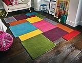Flair Rugs Tappeto, Lana, Multicolore, 150cm x 240cm
