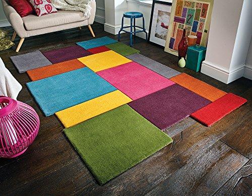 Collage Reine Wolle handgeschnitzt Dick Soft Teppich, Multi Farbe in 3Größen Teppich, 120x180cm (4x6') - 6' Wolle Teppich