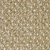 Fabulous Fabrics Strickstoff Gitter – beige — Meterware ab 0,5m — zum Nähen von Jacken, Pullovern und Strickjacken