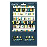 """abaco 08779un testo""""Happy Birthday"""" Confezione regalo confezione con 2fogli/etichette"""